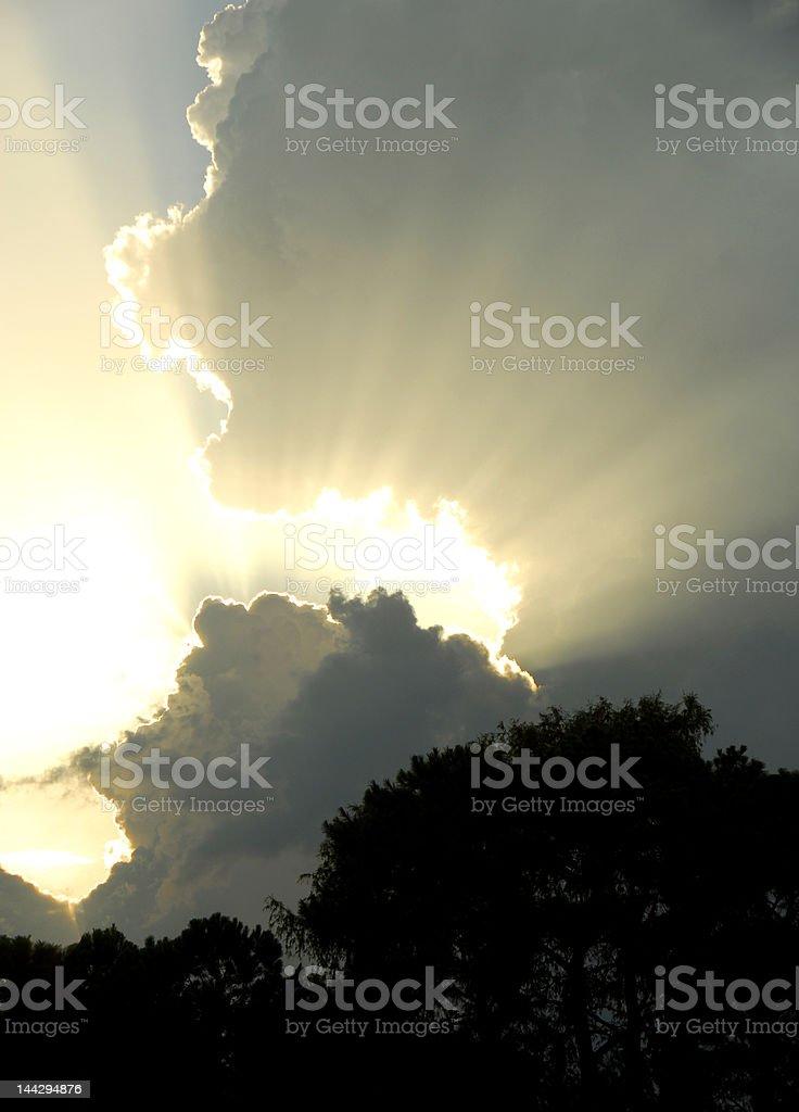 Radiating Heavenly Sky royalty-free stock photo