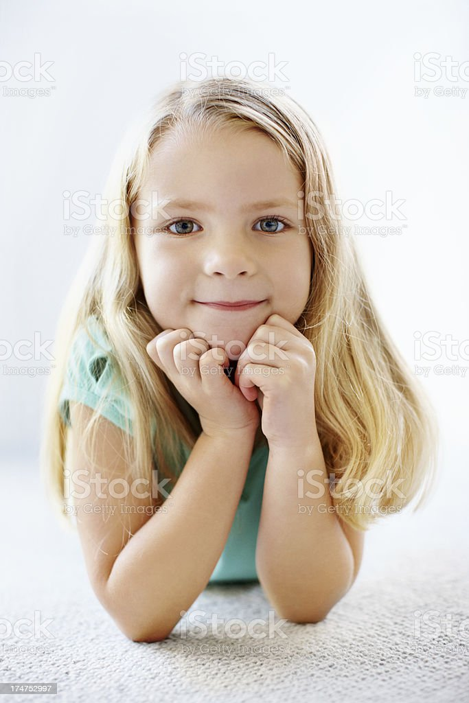 Radiating innocence royalty-free stock photo