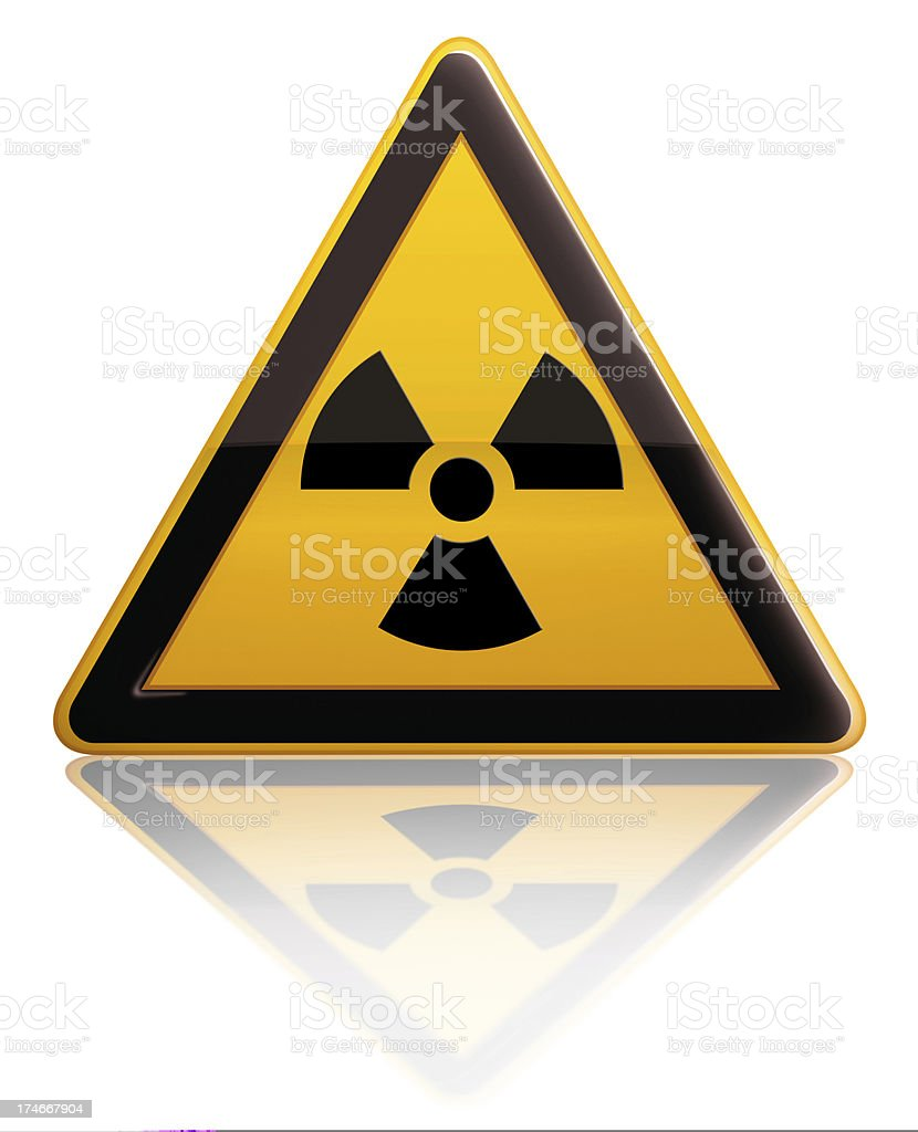 Radiation Alert Sign royalty-free stock photo