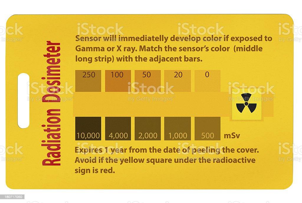Radiation dosimeter badge stock photo