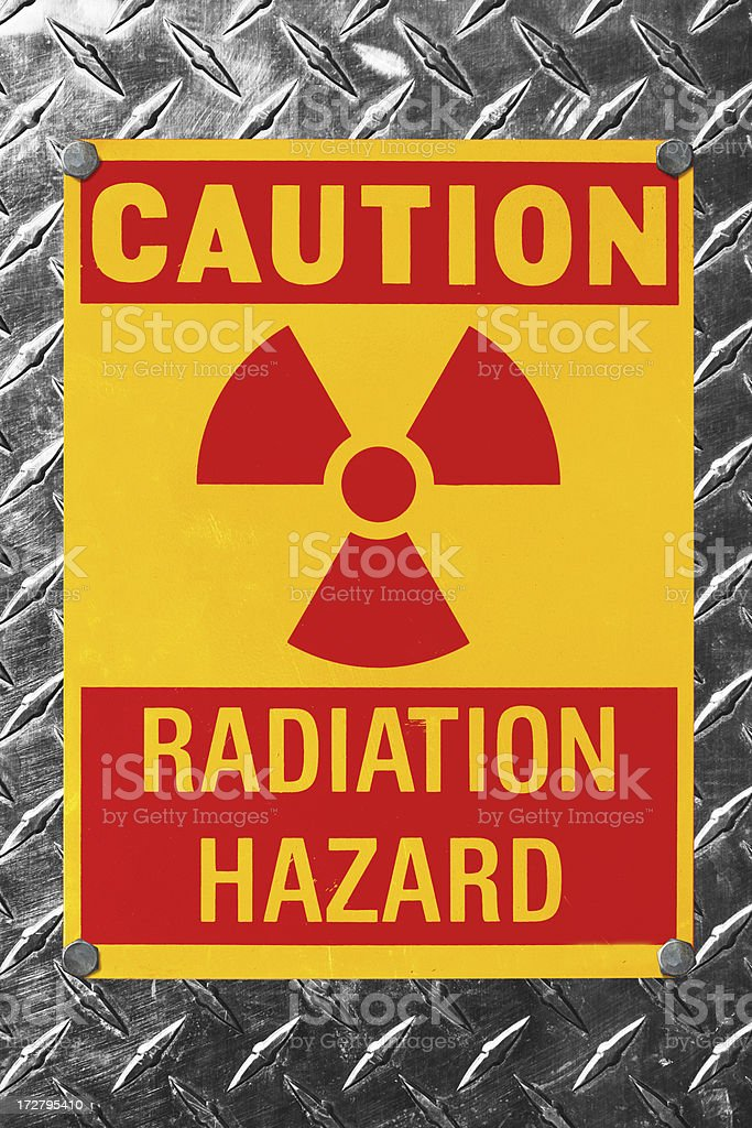 Radiation Hazard concept royalty-free stock photo