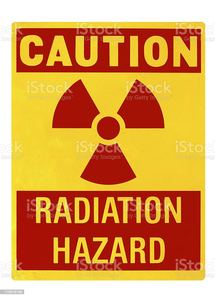 Radiation hazard sign with Clipping path stock photo