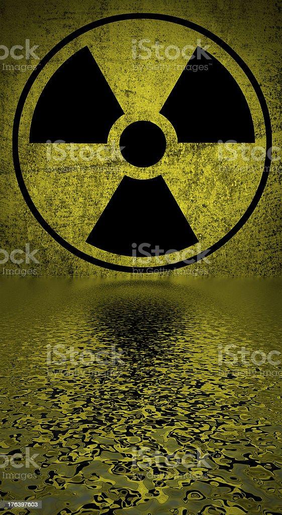 Radiation hazard symbol. stock photo
