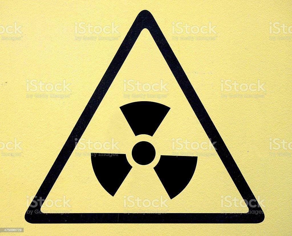 Radiation hazard symbol sign of radhaz threat alert icon stock photo