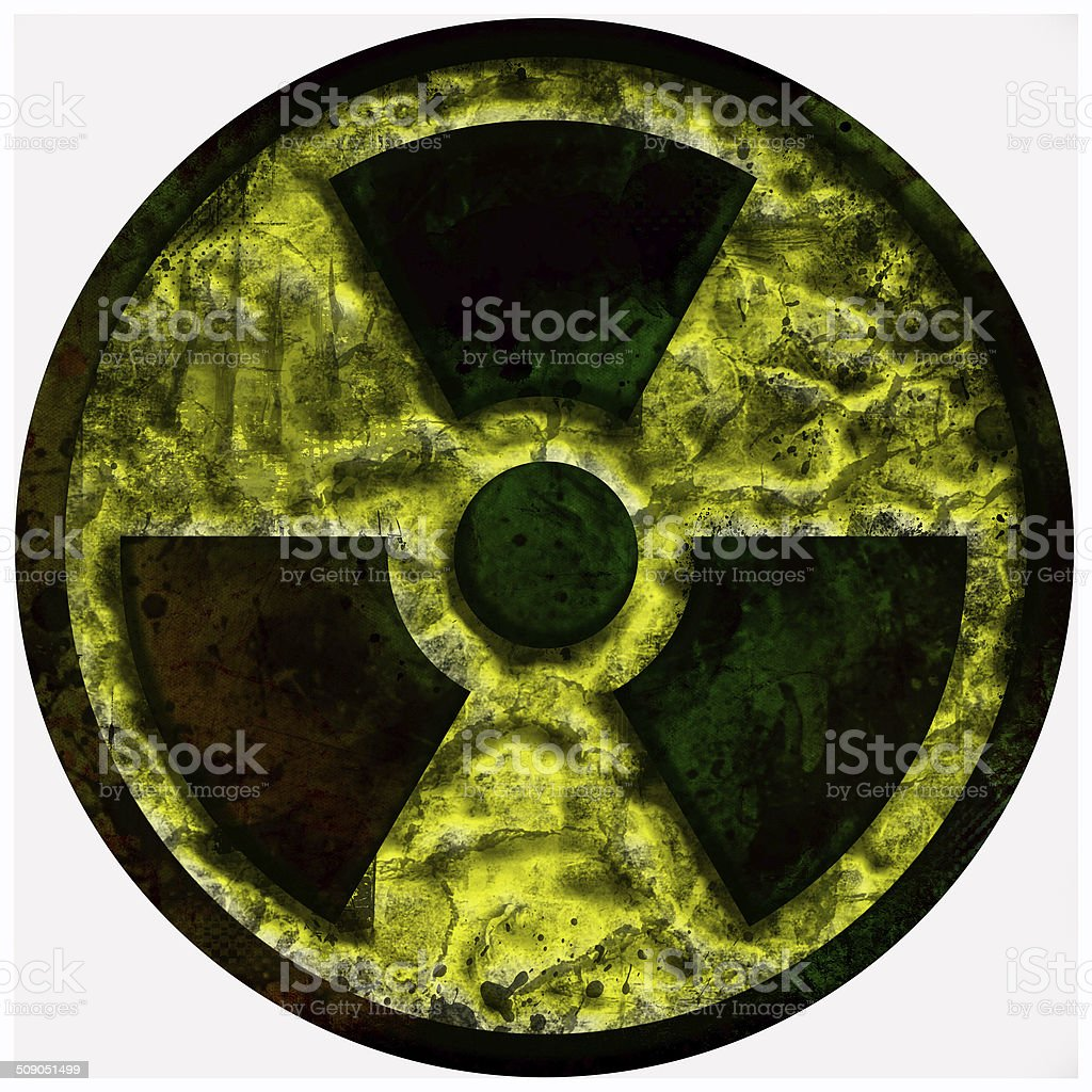 radiation, radioactive, nuclear sign stock photo