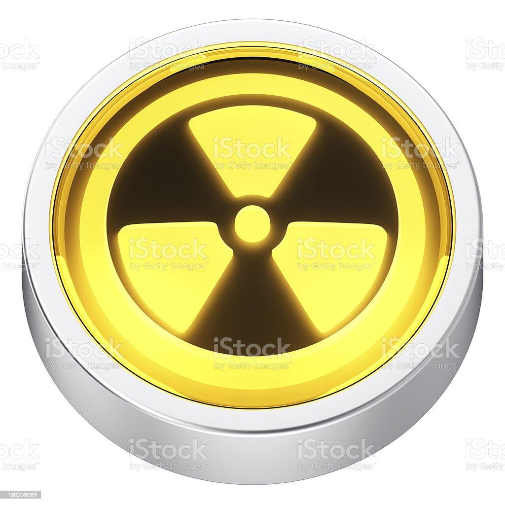 Radiation round icon royalty-free stock photo