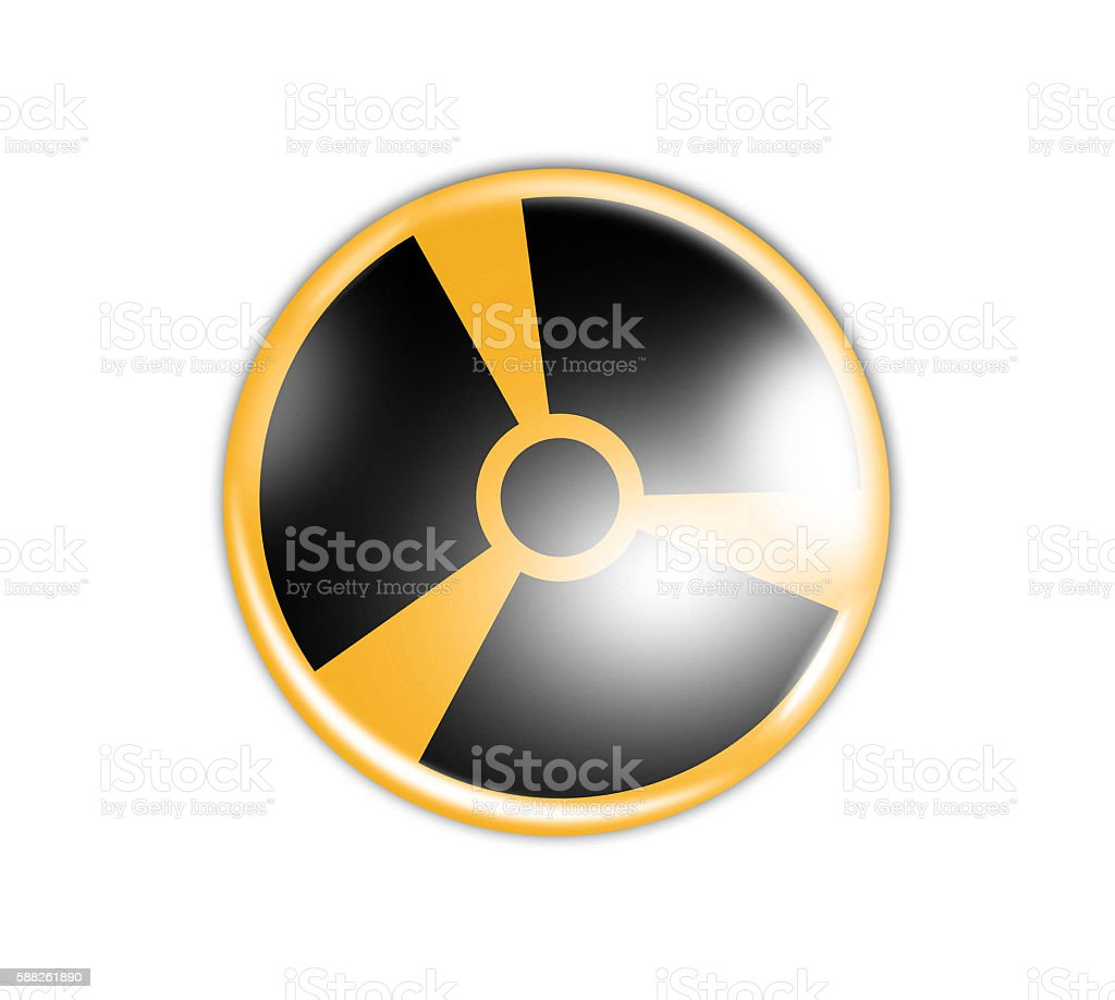 Radiation sign in circle stock photo