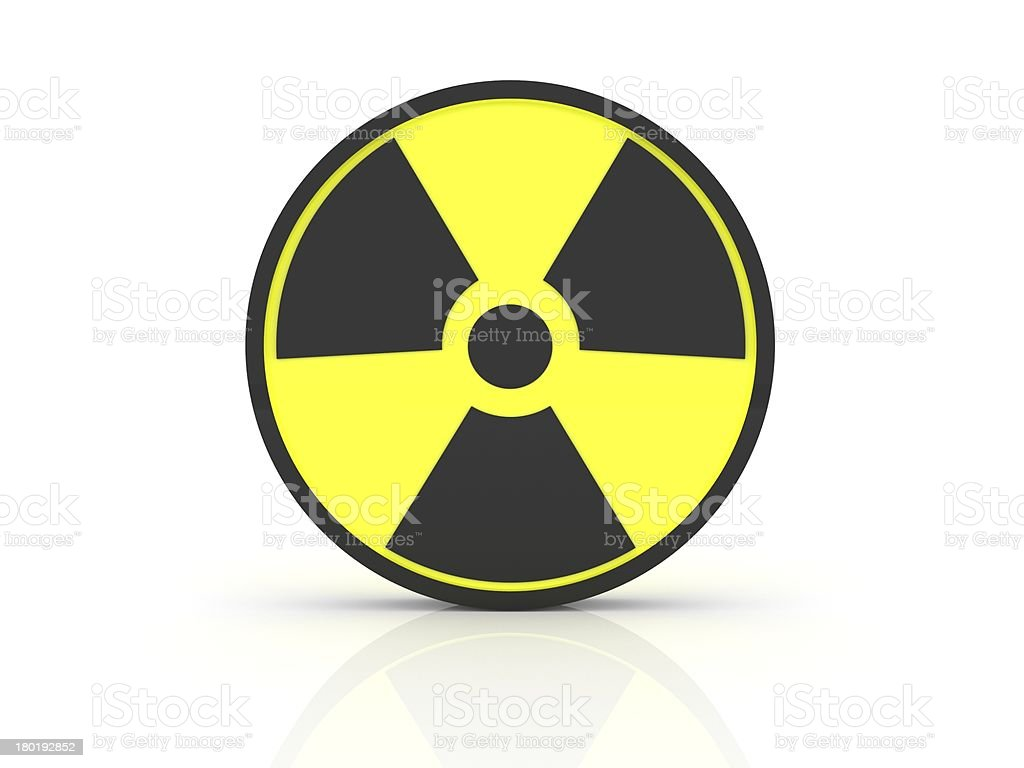 3D Radiation Sign royalty-free stock photo