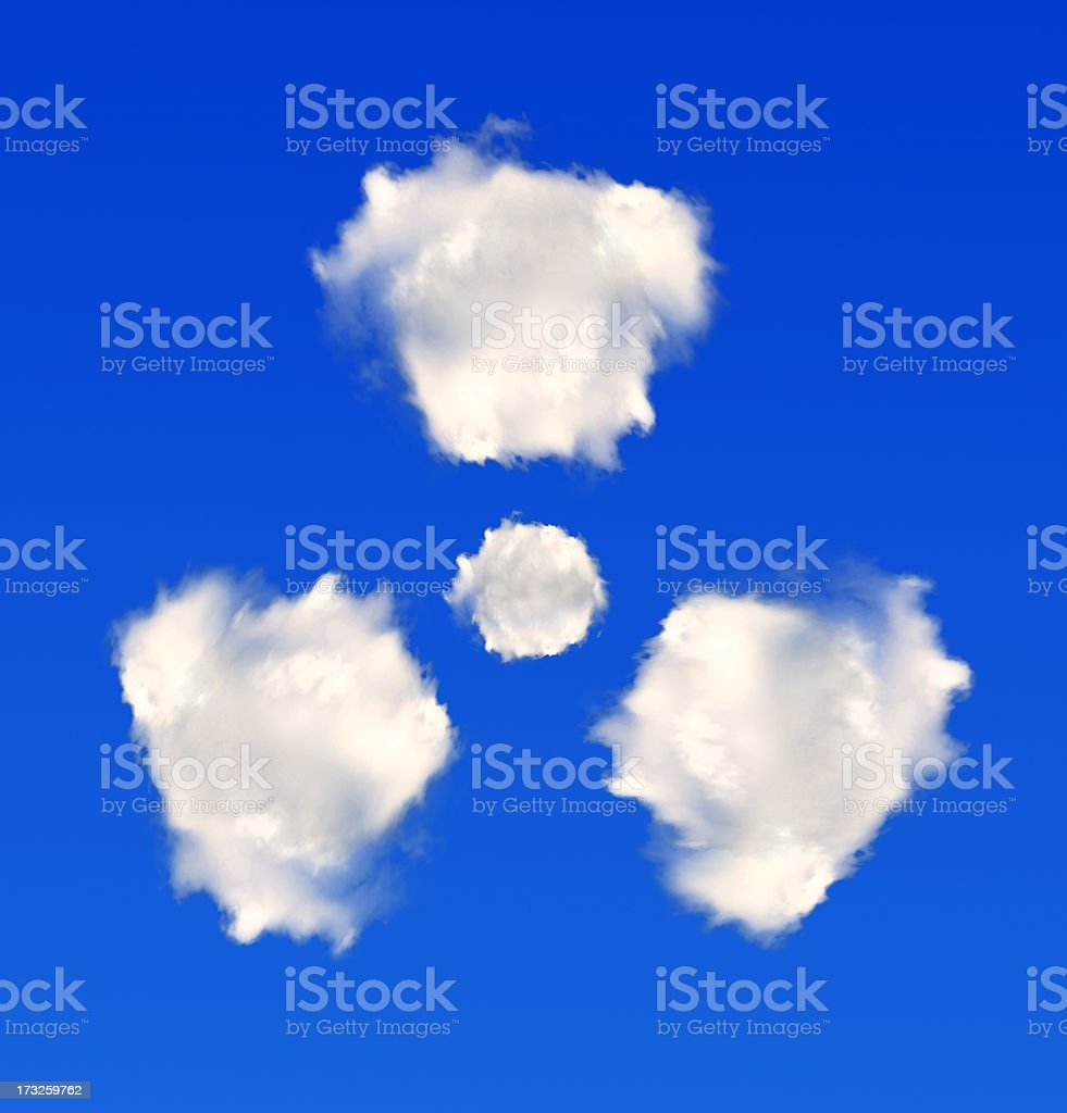 radiation symbol from clouds royalty-free stock photo