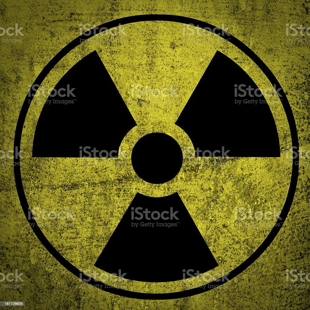 Radiation symbol. stock photo