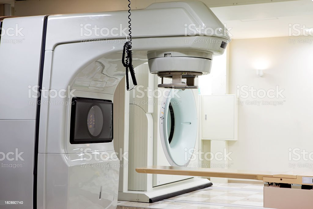 Radiation therapy room royalty-free stock photo