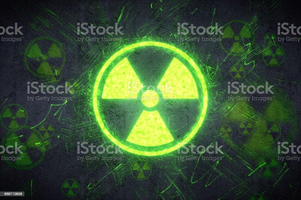 Radiation Warning Design stock photo