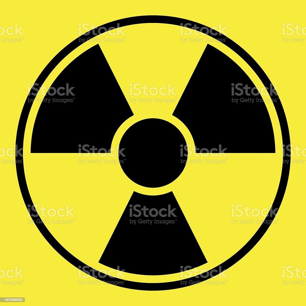 Radiation Warning Sign stock photo