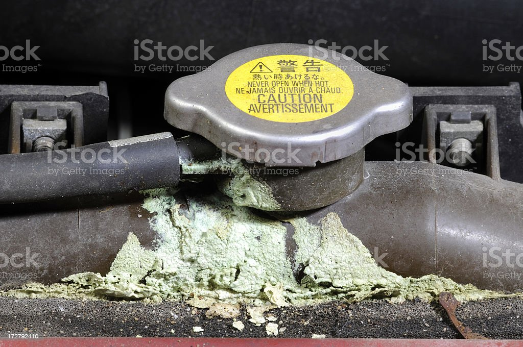 Radiator cap with corrosion. royalty-free stock photo