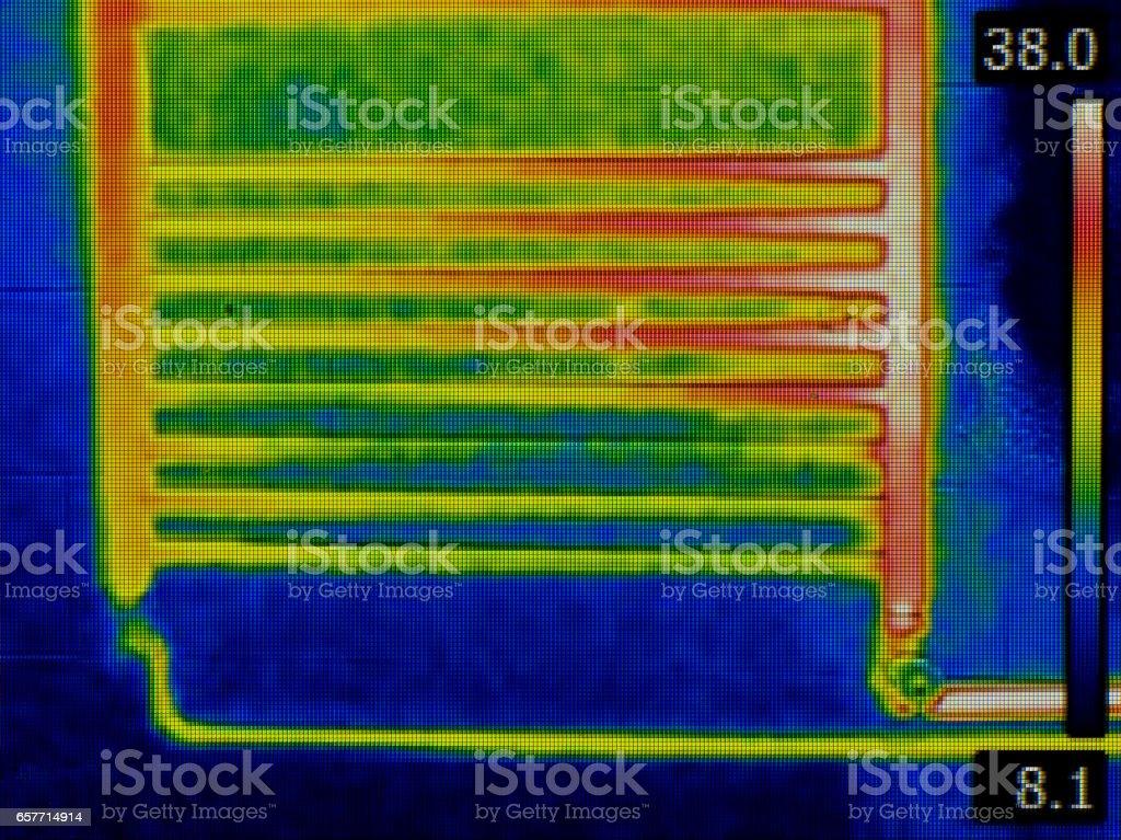 Radiator Infrared stock photo