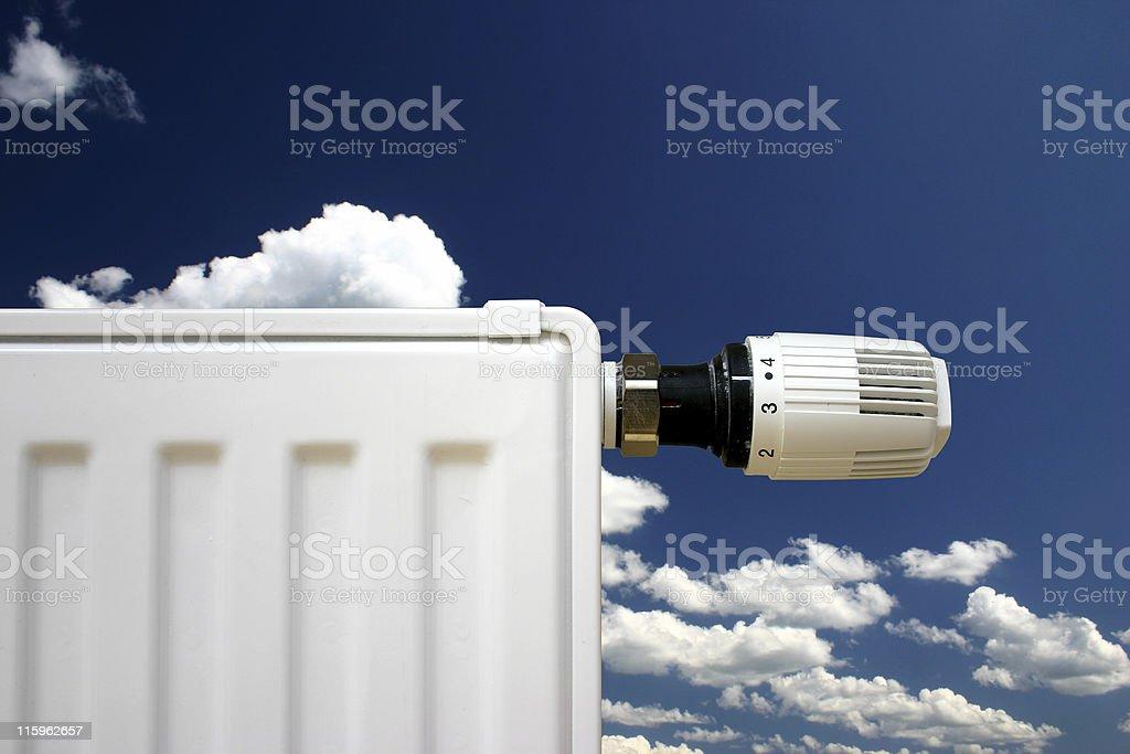 Radiator on a blue sky stock photo