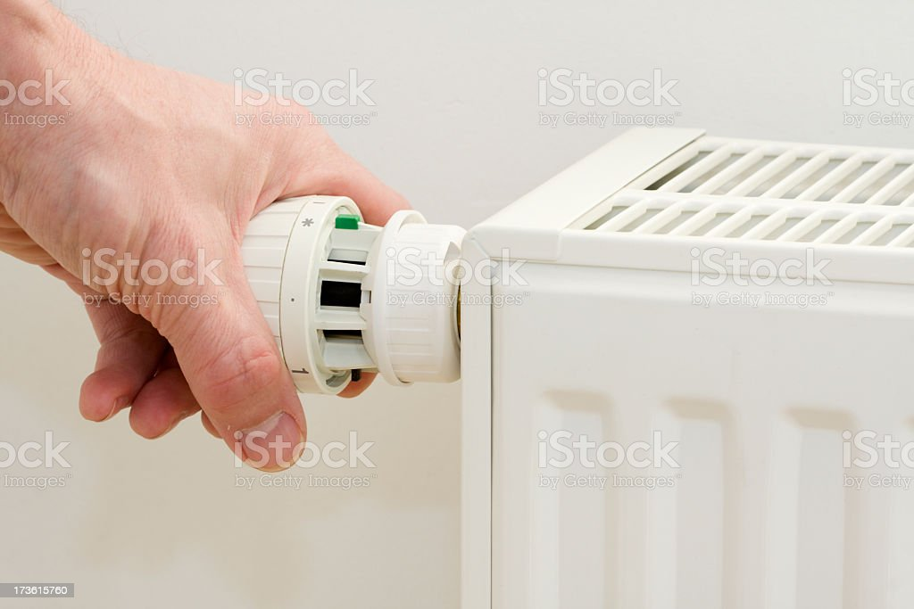 Radiator. Save energy and money concept. royalty-free stock photo