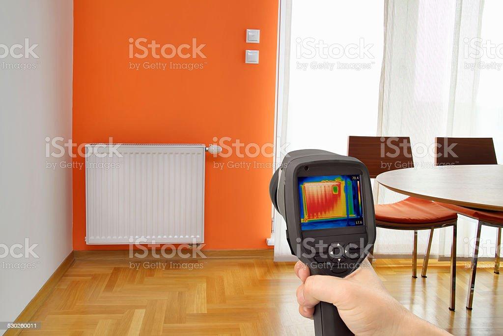 Radiator Thermal Image stock photo