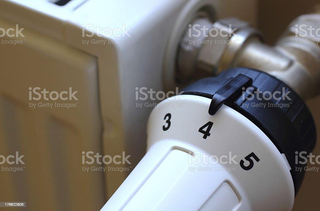 Radiator valve royalty-free stock photo