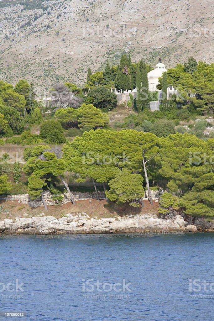 Radic Mausoleum and Cemetery, Cavtat, Croatia stock photo