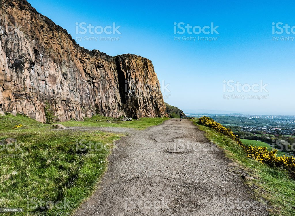 Radical Road, Holyrood Park Edinburgh stock photo