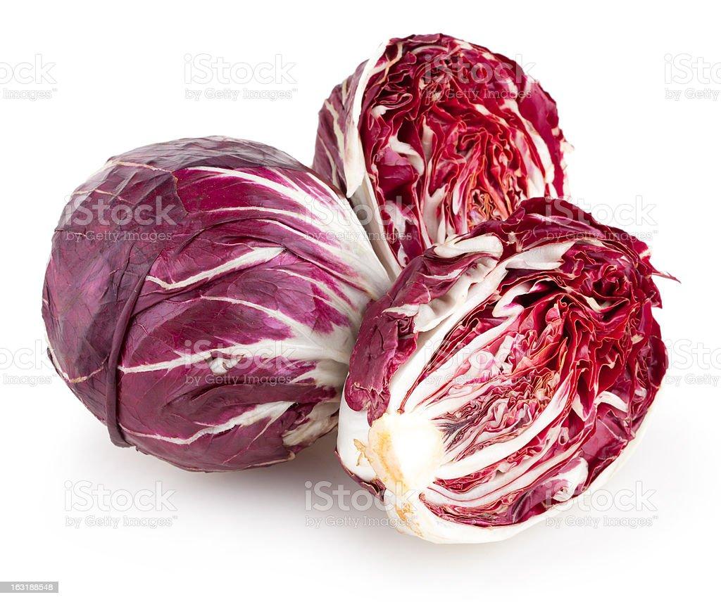 radicchio cabbage stock photo