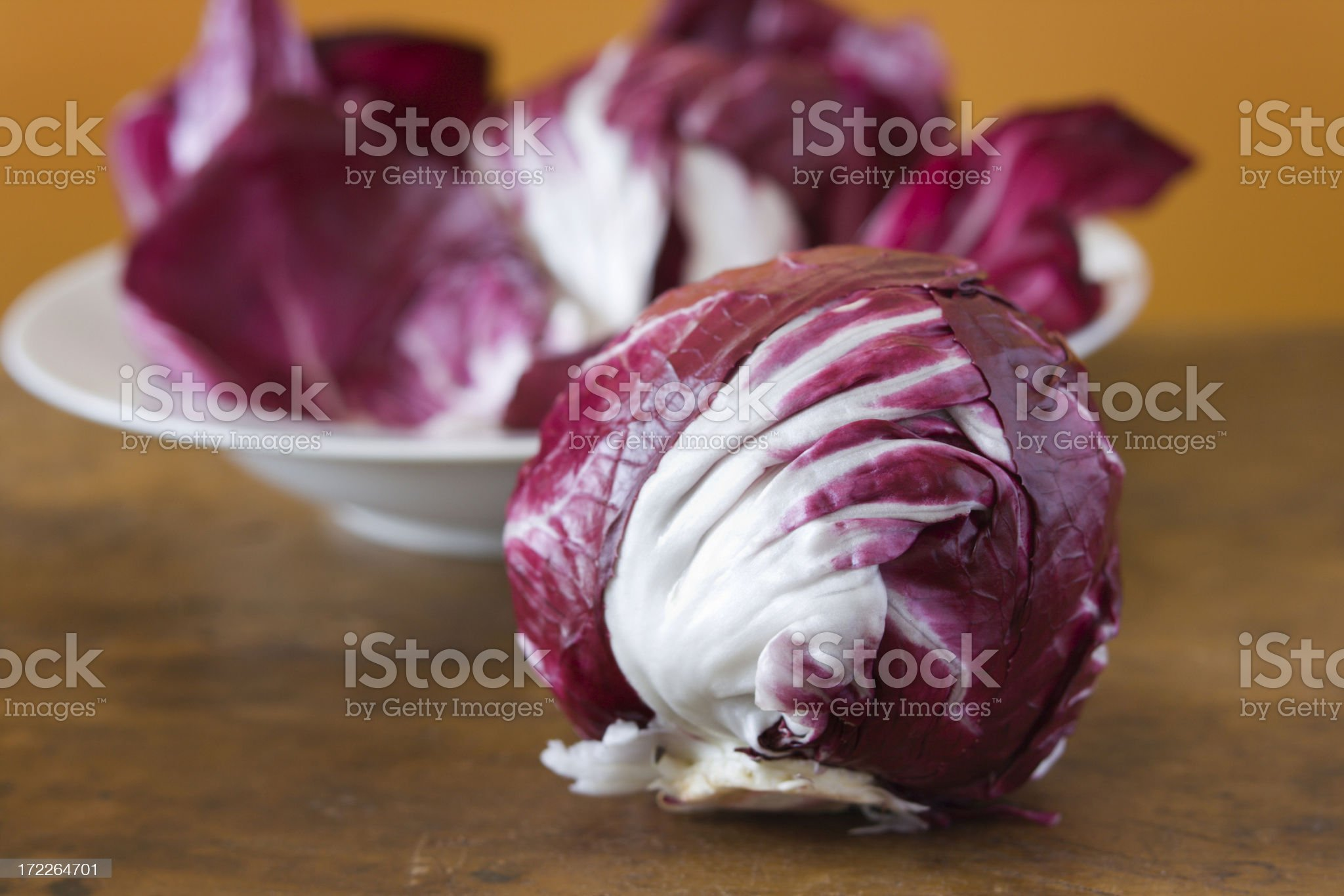Radicchio on the Counter royalty-free stock photo