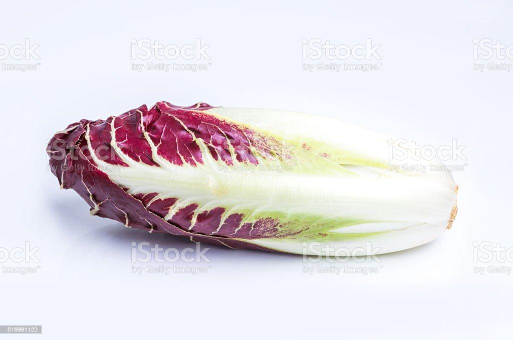 Radicchio, red salad isolated on white stock photo