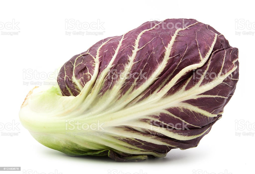 radicchio red salad isolated on white stock photo
