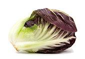 radicchio red salad isolated on white