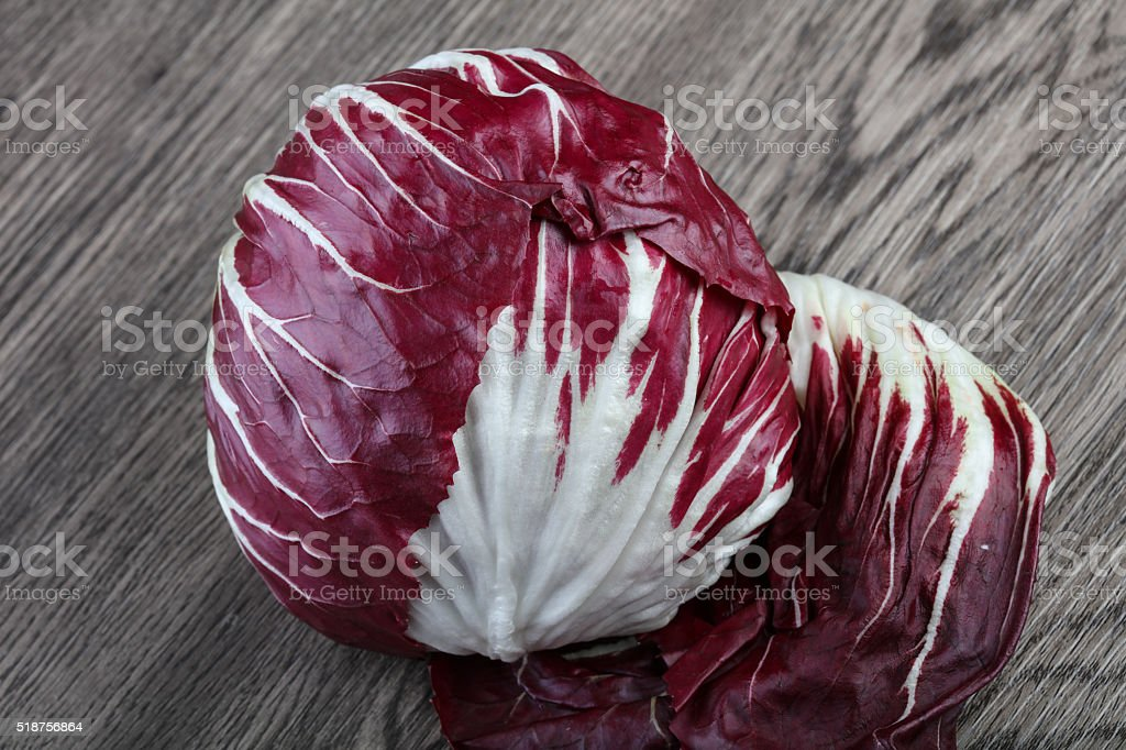 Radicchio salad stock photo