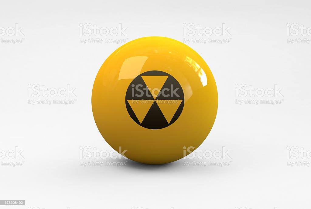 Radio Active Ball Icon royalty-free stock photo