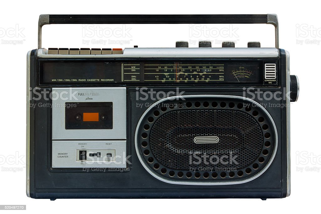 Radio and cassette old. stock photo