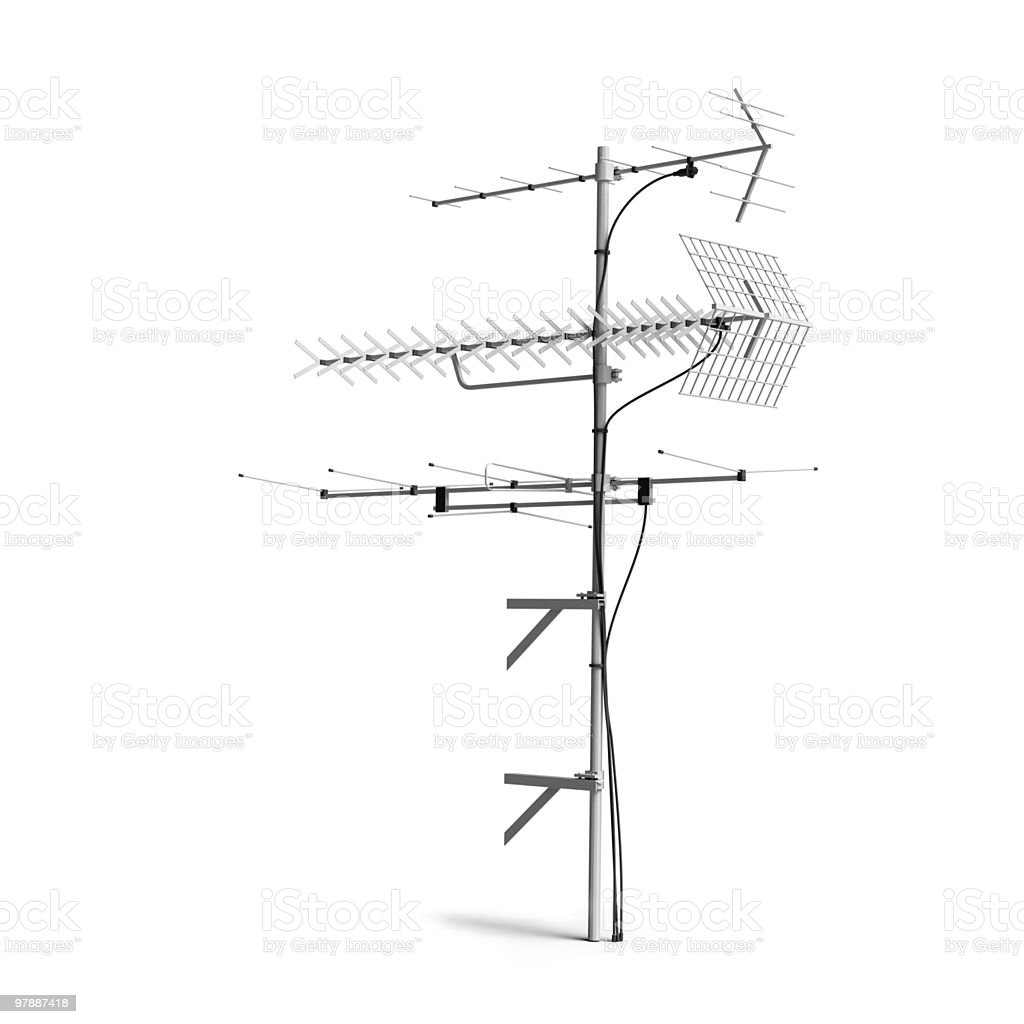 TV Radio antenna, aerial stock photo