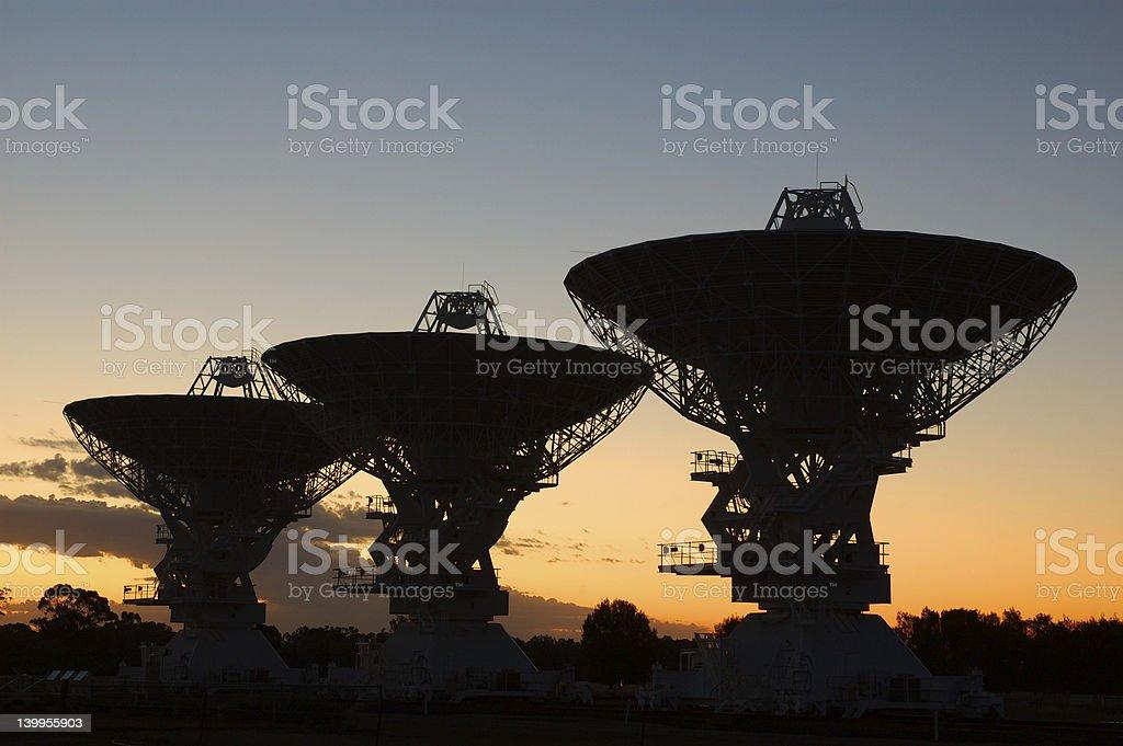 Radio Antenna Dishes royalty-free stock photo