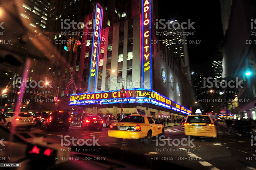 Radio City Building Manhattan, New York stock photo
