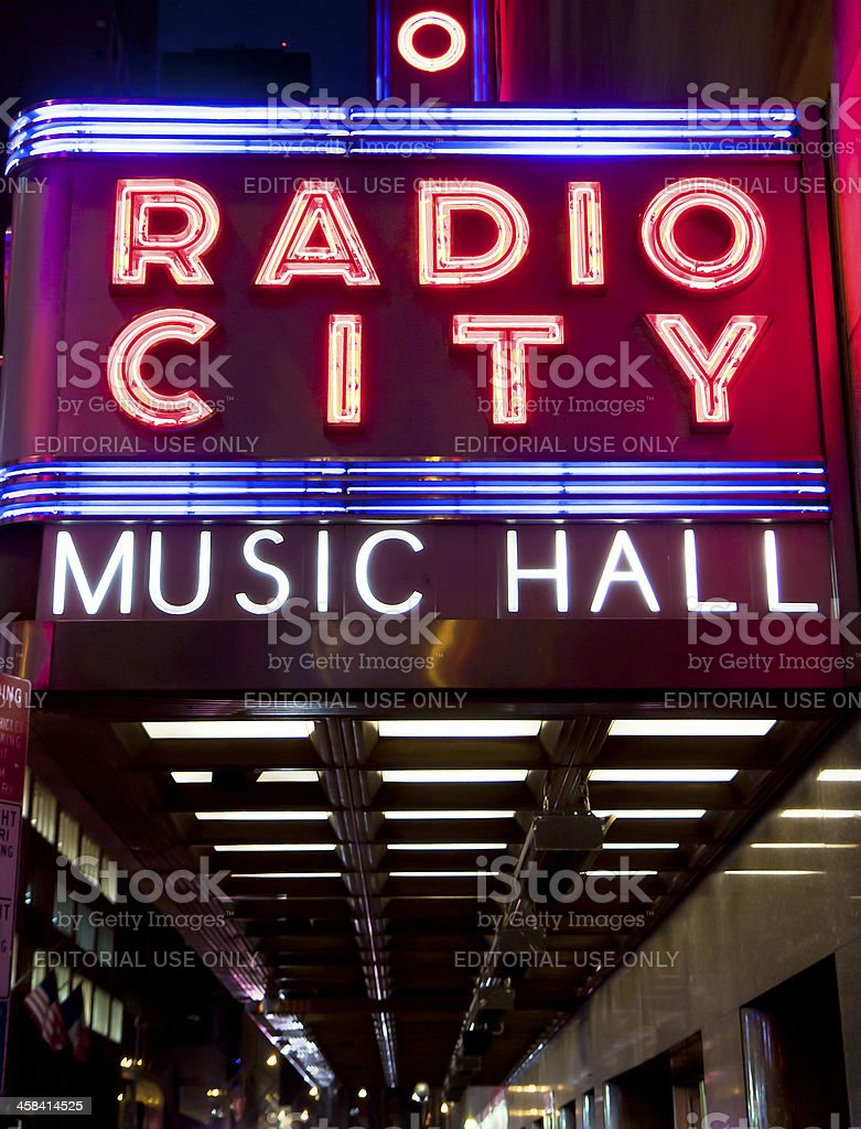 Radio City Hall stock photo