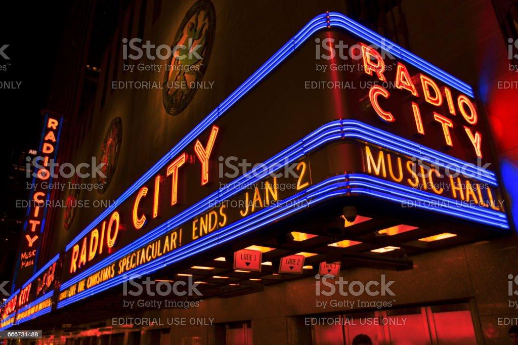 Radio City Music Hall at Christmas. stock photo
