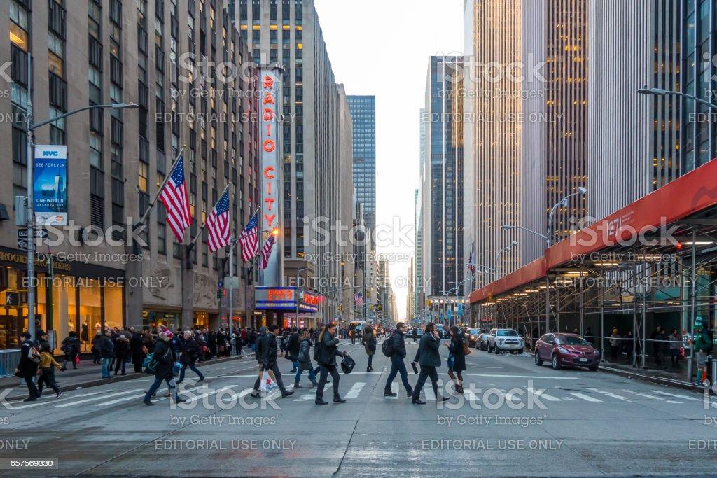 Radio City Music Hall at Rockefeller Center stock photo