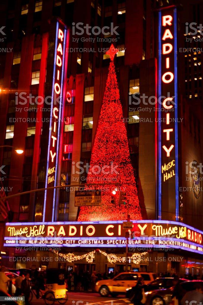 Radio City Music Hall Christmas 2011 Manhattan stock photo