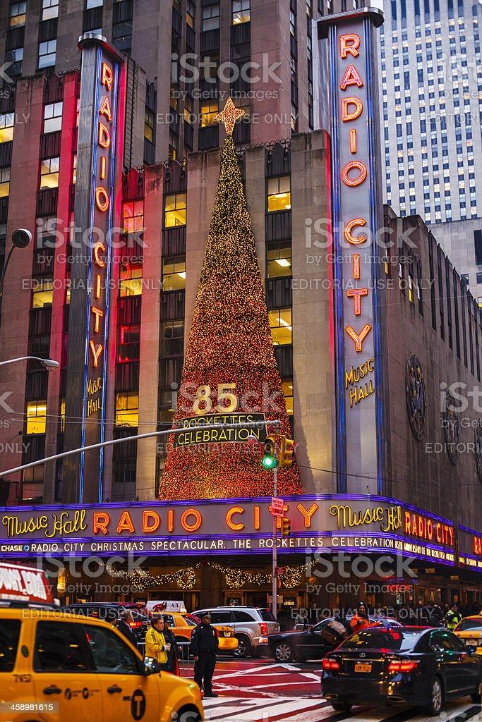 Radio City Music Hall Christmas Manhattan 2012 stock photo