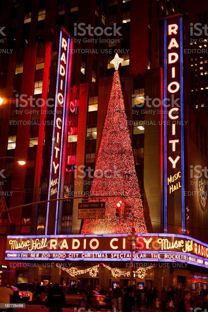 Radio City Music Hall Holiday Season 2011 Manhattan stock photo