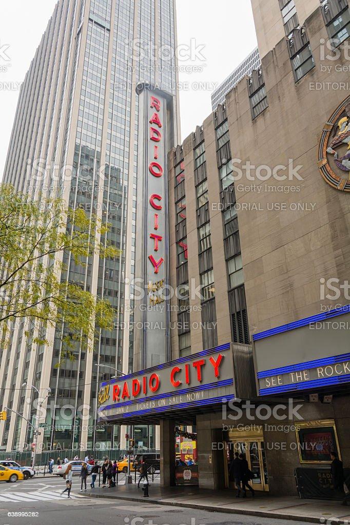 Radio City Music Hall in Rockefeller Center stock photo