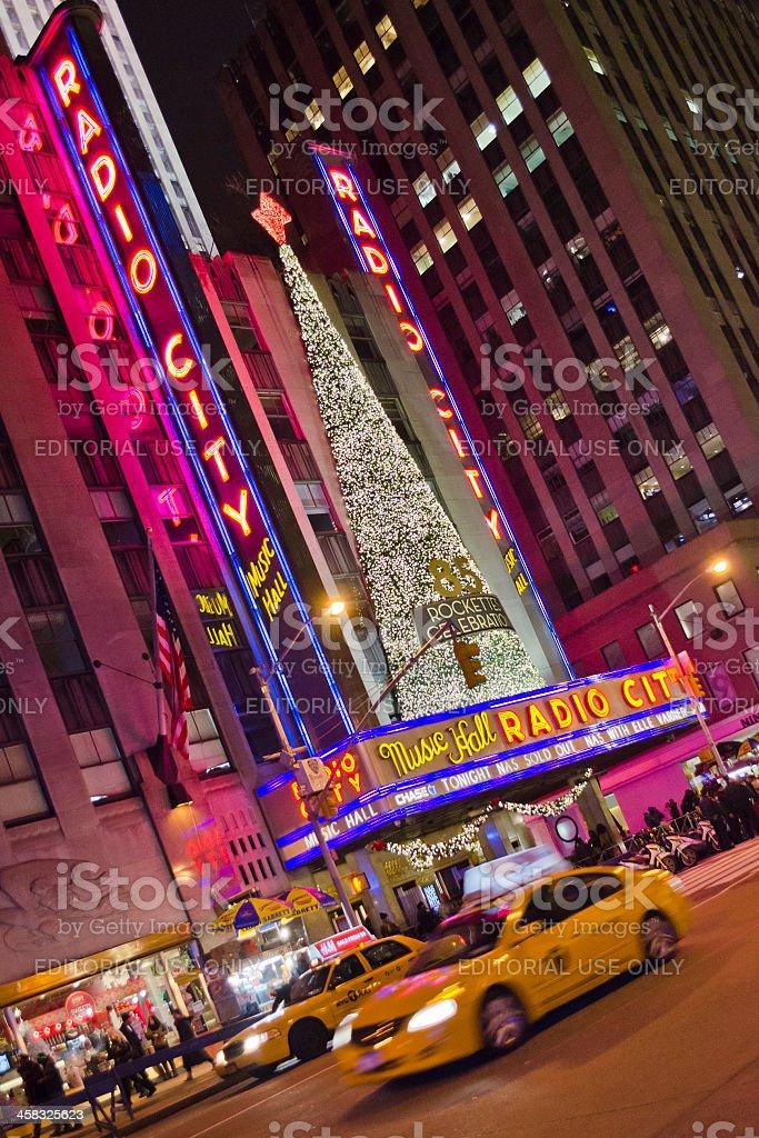 Radio City Music Hall, Manhattan, New York royalty-free stock photo