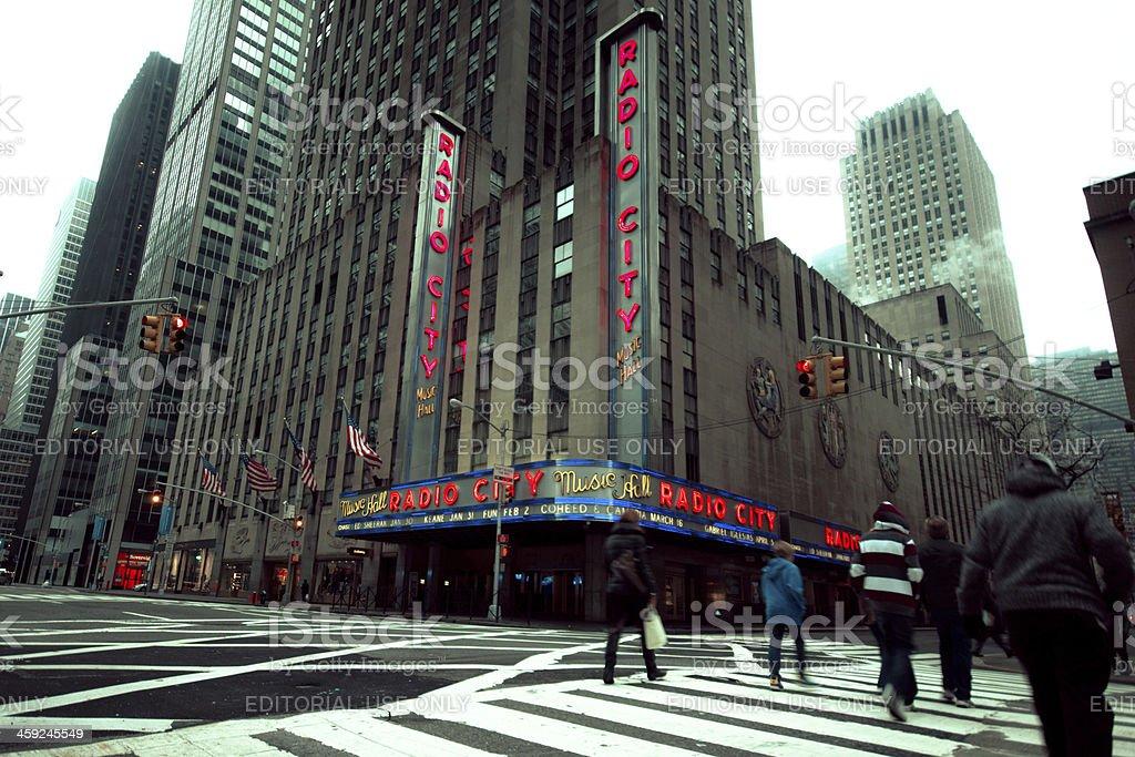 Radio City Music Hall NYC stock photo