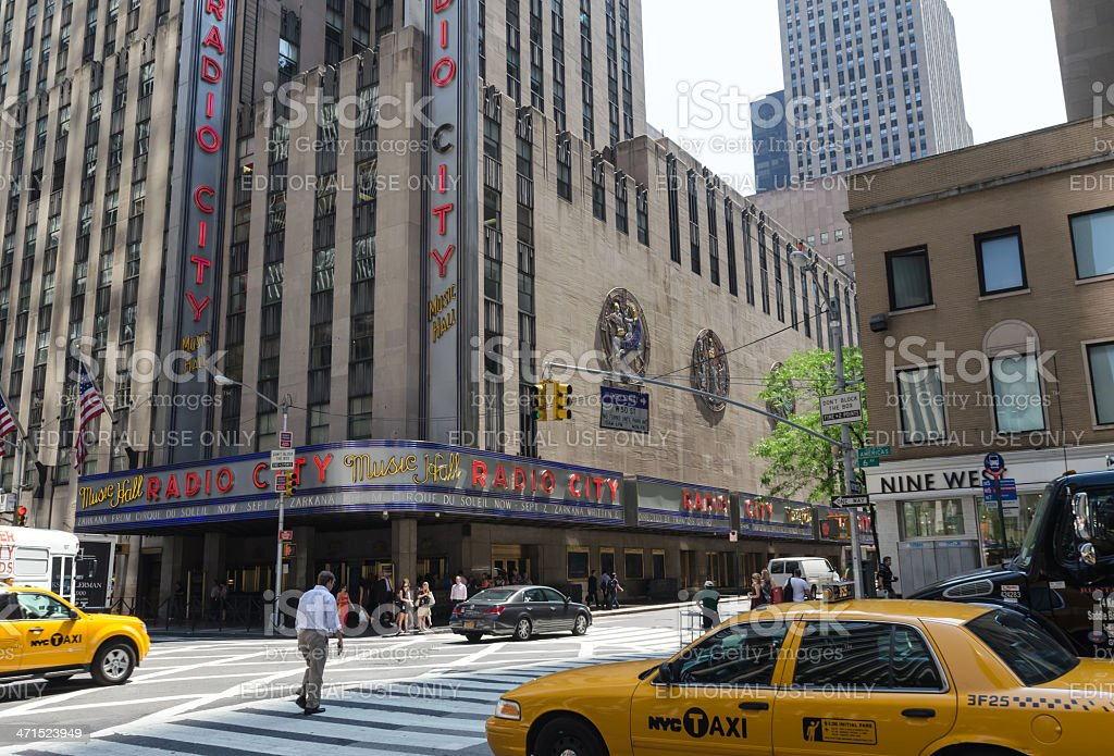 Radio City Music Hall royalty-free stock photo
