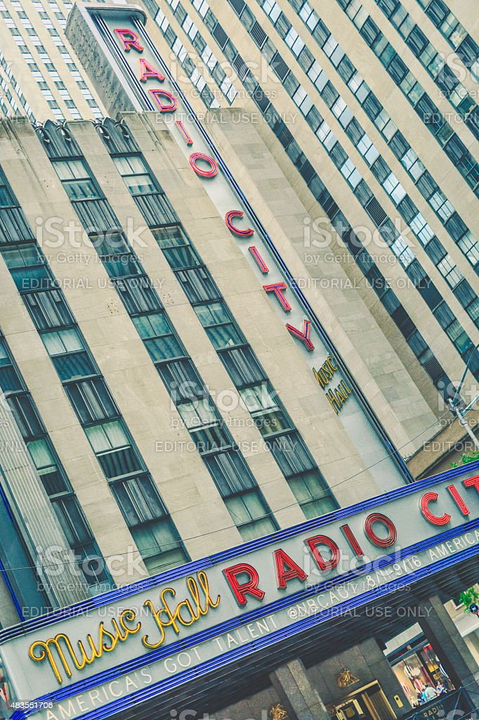 Radio City Music Hall stock photo