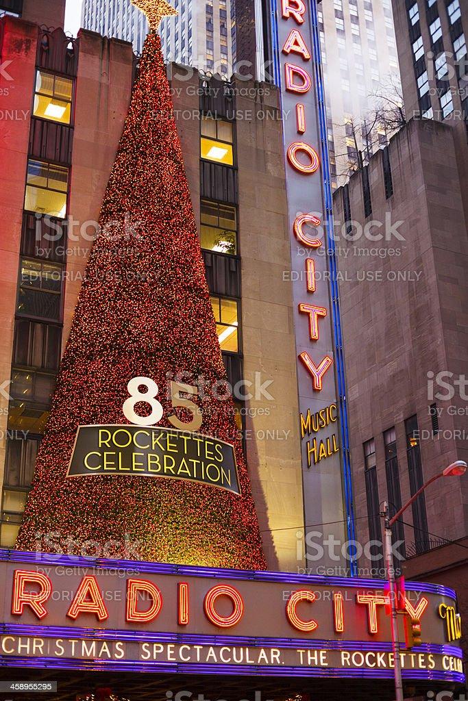 Radio City Music Hall Rockettes 85th Christmas Manhattan 2012 stock photo
