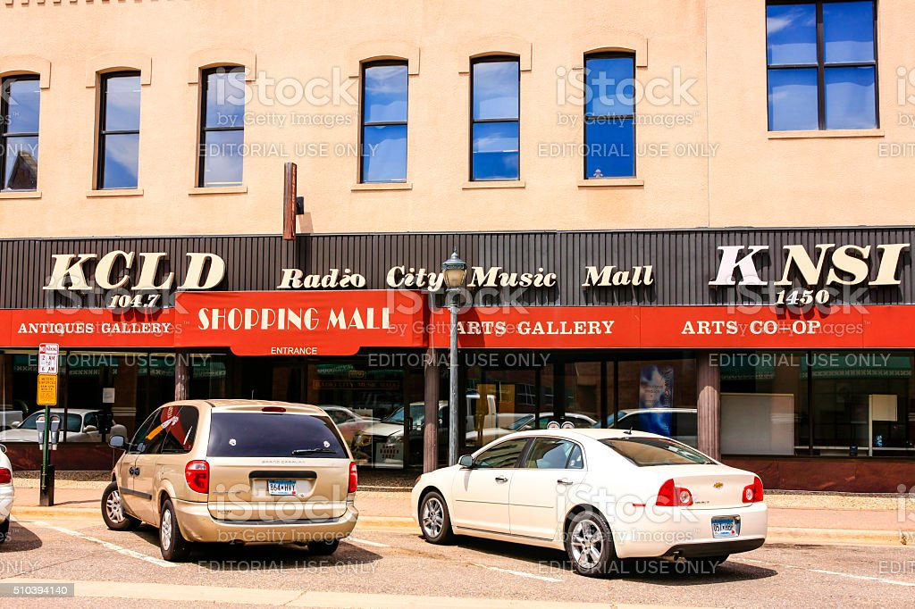 KCLD Radio City Music Mall in St. Cloud MN stock photo