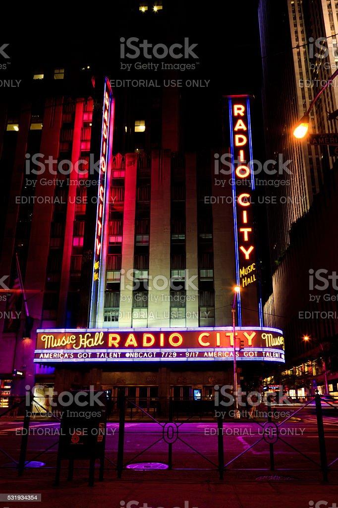 Radio City stock photo